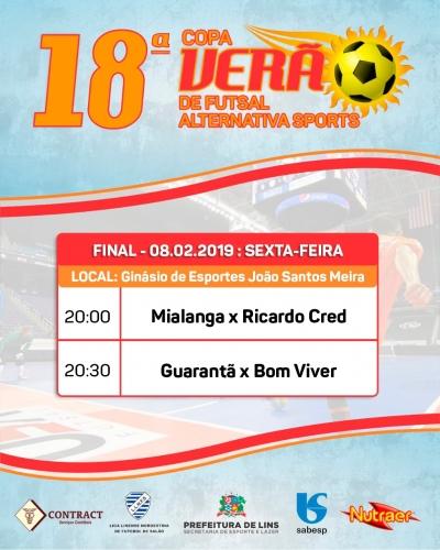 1ff51196cd099 18ª edição da Copa Verão de Futsal chega a grande final